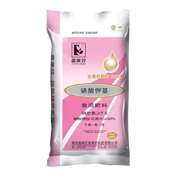 嘉美好硝酸钾基 18-6-8 金黄色复混肥料